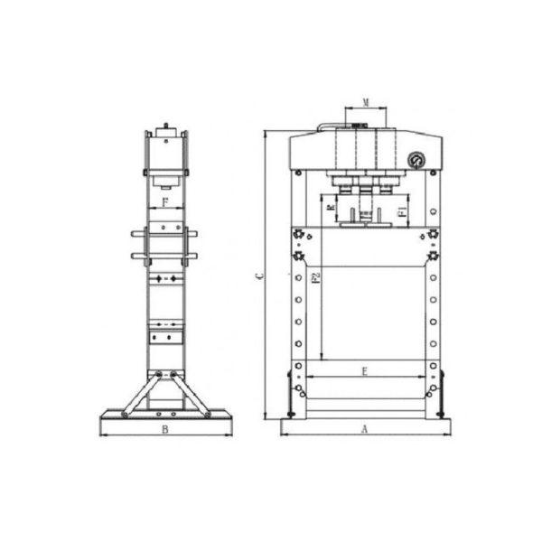 echipamente 8941086200 presa hidraulica 20 tone cp86200 1