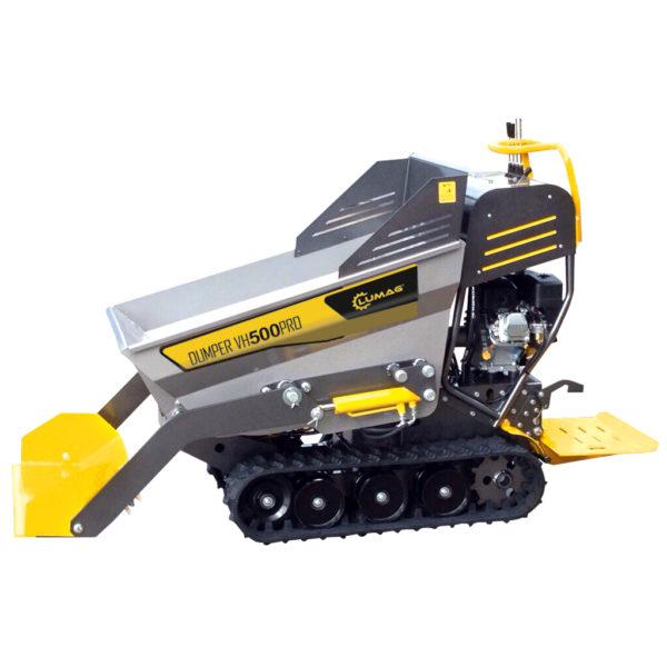 echipamente tehnice.ro vh500prod mini dumper cu remorca hidraulica 296cc