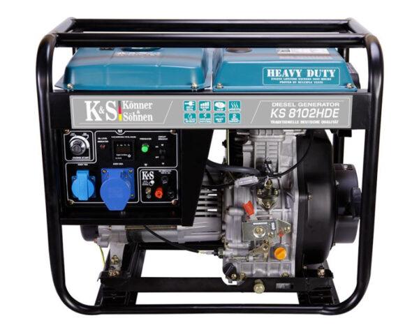 generator de curent 6 5 kw diesel heavy duty euro 2 konner sohnen ks4593