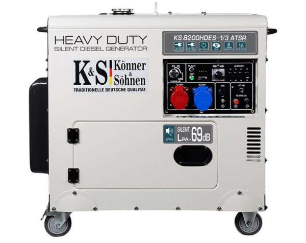 generator de curent 6 5 kw diesel heavy duty insonorizat konner sohnen4596