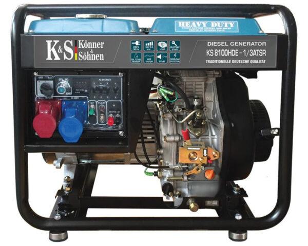 generator de curent 6 5 kw diesel heavy duty konner sohnen ks 8100de 14578