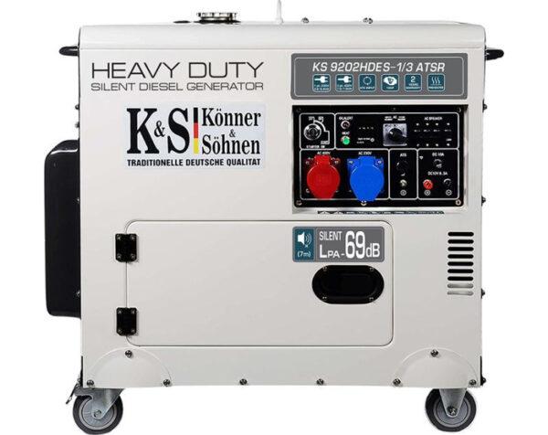 generator de curent 7 5 kw diesel heavy duty euro 2 insonorizat konner4598