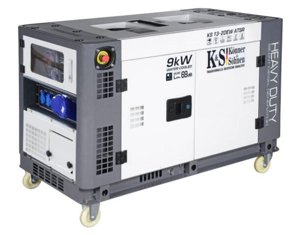 generator de curent 9 kw diesel heavy duty insonorizat konner sohnen4590