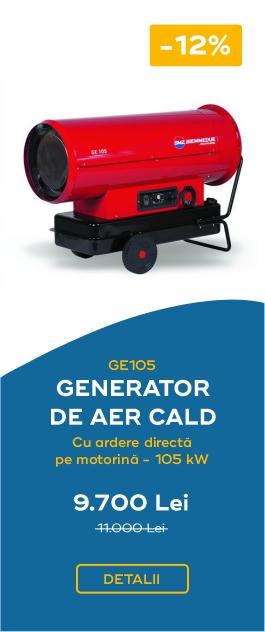 GE105 – GENERATOR DE AER CALD CU ARDERE DIRECTA PE MOTORINA – 105 KW