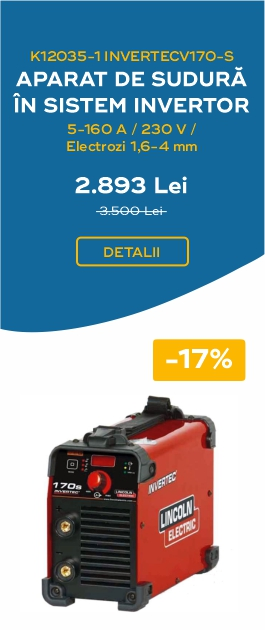 INVERTECV170 S APARAT DE SUDURA IN SISTEM INVERTOR 5 160A 230V ELECTROZI 1.6 4MM 2