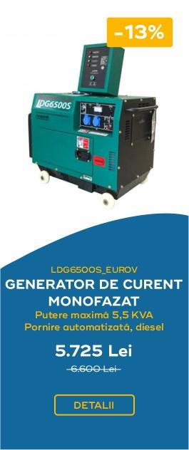 LDG6500S EUROV GENERATOR DE CURENT MONOFAZAT PUTERE MAXIMA 5.5KVA PORNIRE AUTOMATIZATA DIESEL